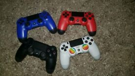 PS4 (PlayStation 4) controllers - black, blue, red & white - £30 each