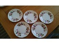 Vintage Gainsborough bone china tea plates.
