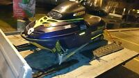2000 skidoo formula 3 800 long track with reverse  parting out