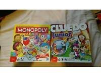 Kids Monopoly and Cluedo