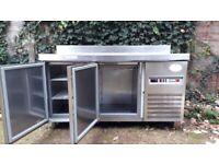 fagor 2 door prep fridge