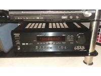 8.1 channel amp with cd player and 2 tibo audio speakers and wires