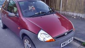 Ford KA for sale 53,000 miles Red color 1.3 Petrol with MOT 2017