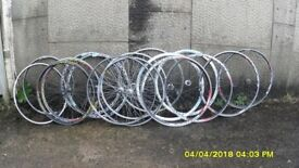 RACING BIKE 700c ALLOY WHEELS VARIOUS MAKES SOLD SINGLY OR IN SETS
