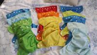 Reduced!!! lot of 10 pocket diapers