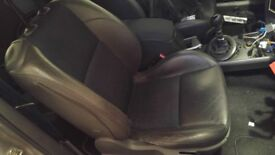 Megane 225 trophy half leather interior seats front and rear