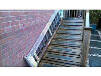 step ladder old wooden type