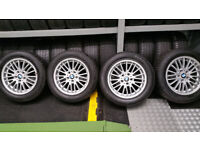BMW Genuine 17 alloy wheels + 4 x tyres 215 60 17 Continental