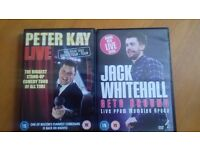 Peter Kay and Jack Whitehall Live DVDs (Perfect Condition)