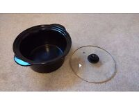 Spare crock and lid for medium round slow cooker