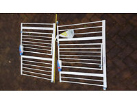 Lindam Stair Gate (pair) with extra extensions. Stairgate guard safety fence