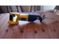 Lightly used Dewalt DC385XRP 18 v cordless Reciprocating saw, GWO, see photos & details