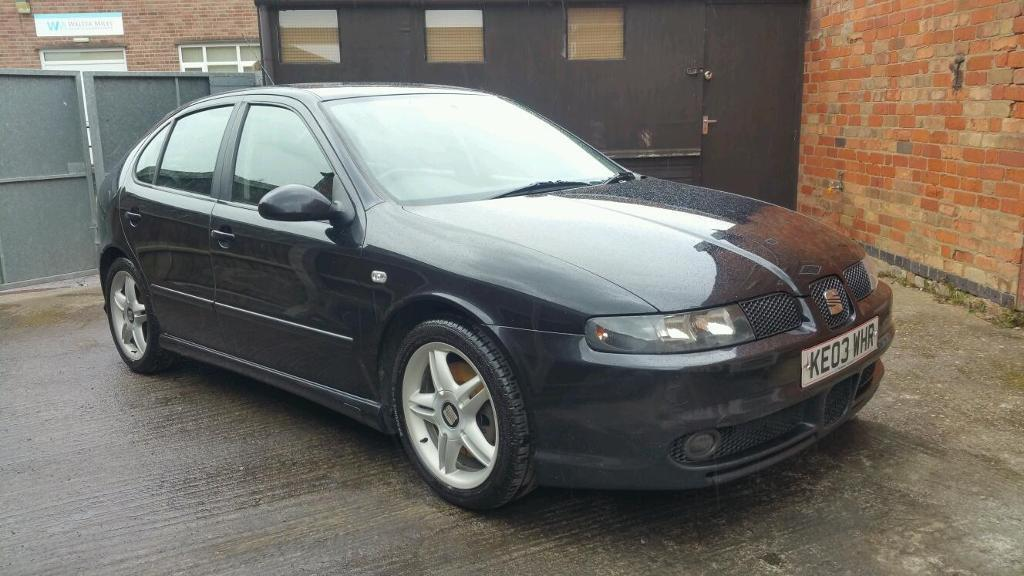 2003 seat leon 1 8 20v t cupra 180 bhp 5dr hatchback black 6 speed full service history. Black Bedroom Furniture Sets. Home Design Ideas