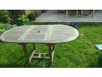 Teak garden table - 6 seater Ormskirk