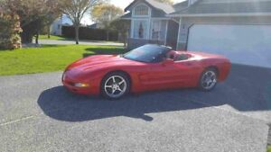 Hot torch red corvette convertible