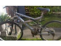 9 Gears suspension Excel Modal Mountain bike in good running condition only £35