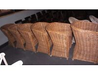 SIX CANE CHAIRS STRONG WELL MADE
