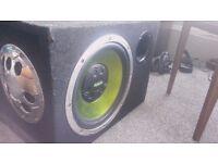12'' Fusion car audio Subwoofer / speaker with cabin EN AB1120 for £30