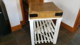 ANTIQUE chopping Block on Stand
