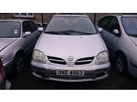2005 NISSAN ALMERA, 1.8 PETROL, BREAKING FOR PARTS ONLY, POSTAGE AVAILABLE NATIONWIDE
