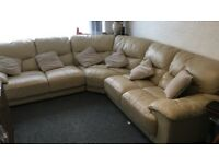 Dazzel Corner 100% leather sofa suite DFS