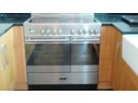 Electric range cooker and extractor fan