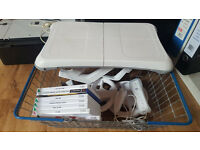 Nintendo Wii Fit board and some games, controllers etc