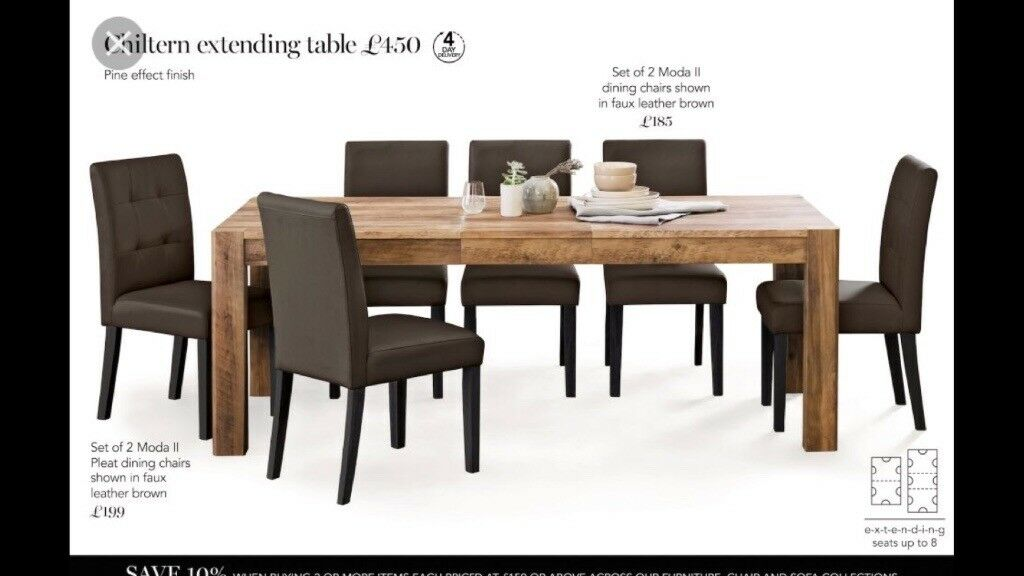 NEXT Chiltern Extending Dining Table And 8 Chairs Glenrothes Fife 70000 Iebayimg 00 S NTc2WDEwMjQ