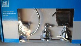 3 piece chrome cloakroom/bathroom set. Unused and still boxed.