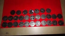 50p olimpic games coins