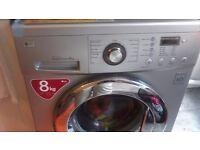 LG Washing Machine 8kg silent silver grey