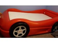 Little Tikes car bed with mattress. Excellent condition pet and smoke free home