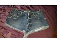Moto Topshop short denim shorts ibiza clubbing