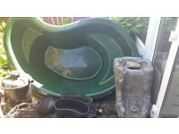 Pond, pump and filter with UV, full set up absolute bargain