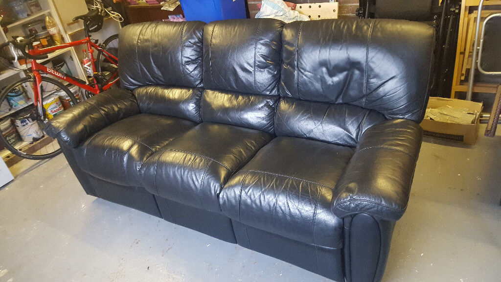3 Seater Recliner Leather Suite Sofa - From Harvey Norman