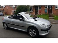PEUGEOT 206 STYLE CONVERTIBLE,, GENUINE 53,000 MILES