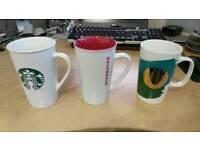 Selection of 3 large Starbucks mugs