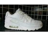 Nike air Max 90 White Leather ... uk 9