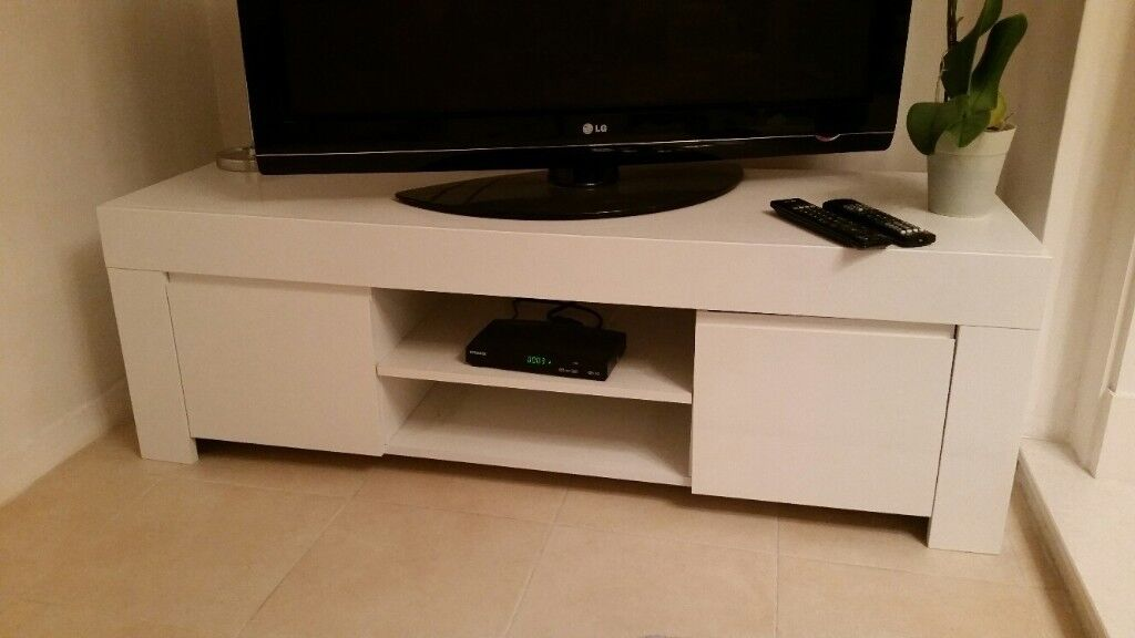Tv Cabinet modern white shiny finish