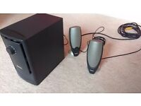 2.1 Dell A425 Speakers with Aux cable + Subwoofer. Good quality sound and cheap price