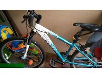 apollo ladies/girls mountain bike and baby seat