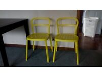metal yellow chairs from ikea Very trendy and strong