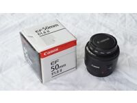 Canon EF 50mm F/1.8 Prime Lens - Mint Condition in box