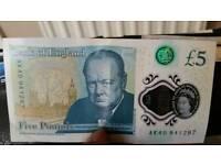 Ak40 £5 note