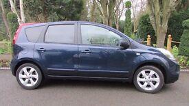 Blue 5 Door Nissan Note 1.6 Tekna (Top of Range)