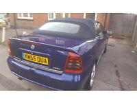 vauxhall astra 1.8 bertone convertible low millage, cambelt done