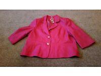 New dark pink Ewm Ladies jacket size 20