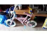 Girls bike with parental handle for sale