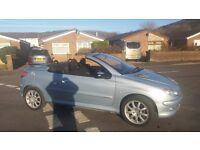 Peugoet 206 cc -coupe convertible featured in Silver