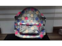 Roxy Backpack/Schoolbag-Ax Leaf Dots Heritage Combo